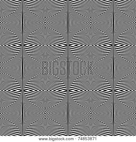 Seamless geometric pattern. Op art texture. Vector art.