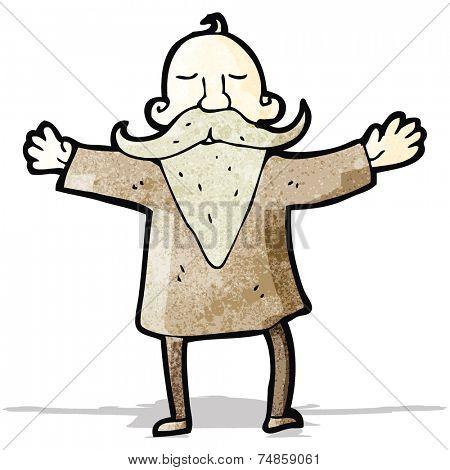 cartoon man with impressive beard