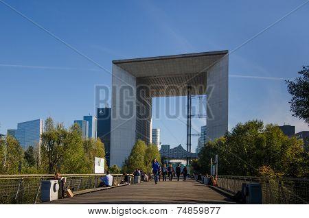 La Grande Arche in La Defense, Paris, France