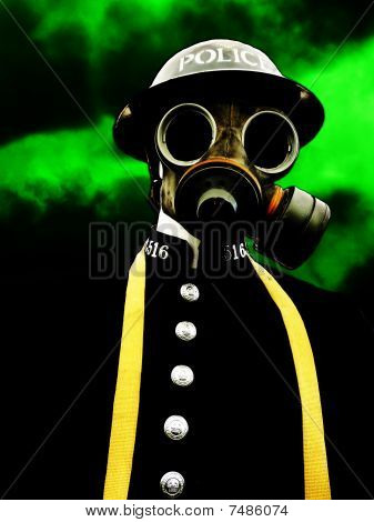 Policeman With Gasmask