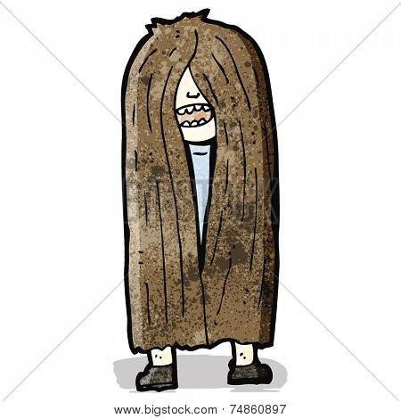 long haired hippie cartoon