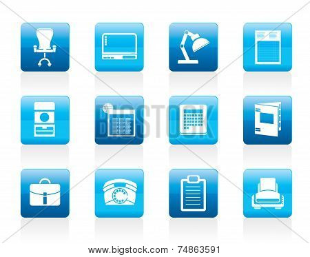 Simple Business, office and firm icons