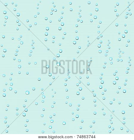 Droplets Of Water On A Light Background