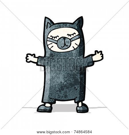 funny cartoon cat costume