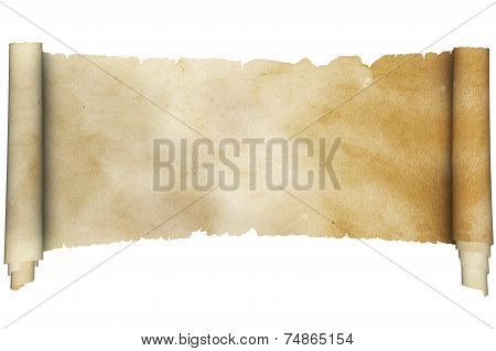 Medieval Parchment On White Background.