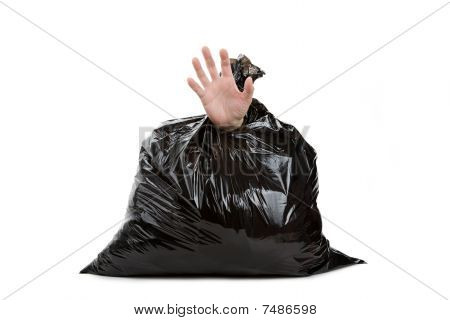 Garbage Bag And Hand
