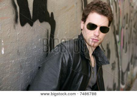 Rocker Rock Star Young Man Sunglasses