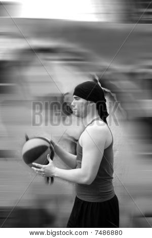 Active Motion Street Basket Player Ball