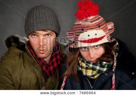 Bundled Up Couple