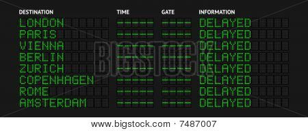 Delayed Flight Information Board