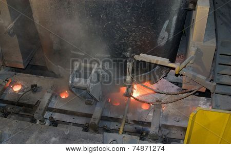 Continuous casting machine.