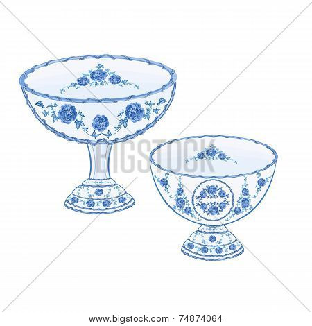 Faience Cups Vector