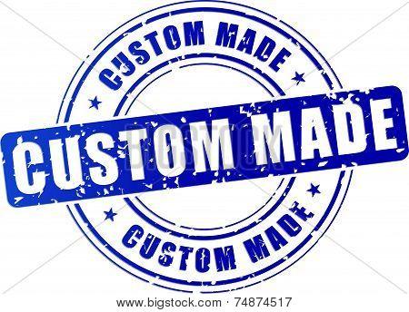 Blue Custom Made Stamp
