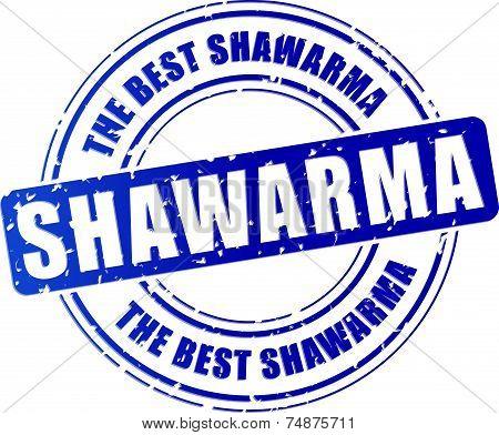 Blue Shawarma Stamp