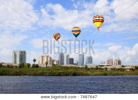 The City Skyline Of Tampa Florida