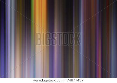 Multicoloured Bright Paint Effect Graduated Stripes Illustration.