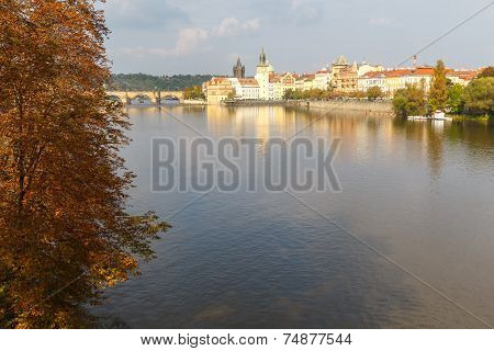 View Of The Charles Bridge, Prague.