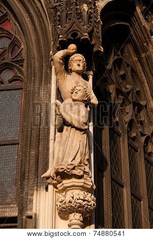 A Sculpture Of St. Sthepen On Stephansdome In Vienna