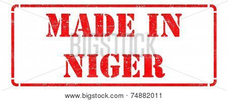 Made in Niger on Rubber Stamp.