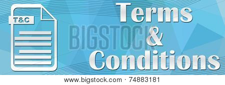 Terms And Conditions Blue Background