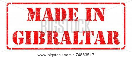 Made in Gibraltar on  Rubber Stamp.