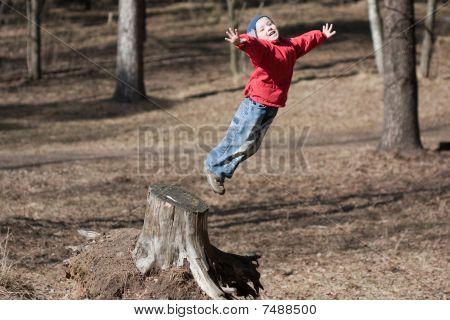 Little Child Jumping