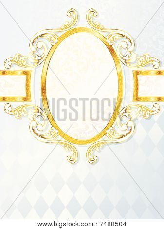 Beautiful vertical rococo wedding banner