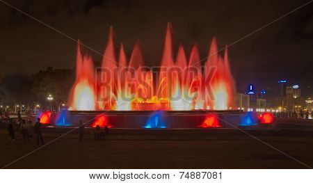 The Magic Fountain (font Magica) In Barcelona