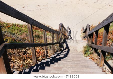 Stairs Leading To The Beach