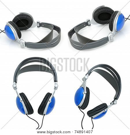 Stereo Headphones For Listening Of Qualitative Music