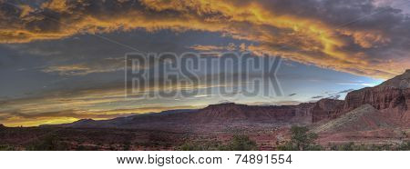 Sunset Capitol Reef National Park At Panorama Point