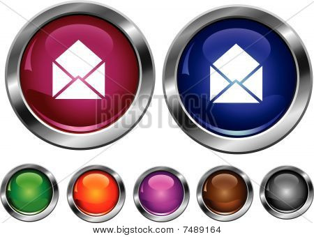 Vector coleção de ícones com sinal de Mail