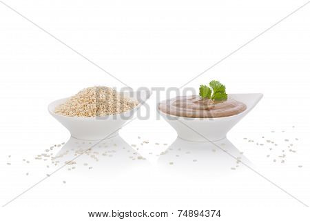 Tahini Dip And Sesame Seeds