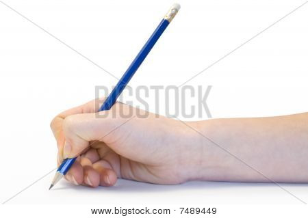 Hand With The Pencil
