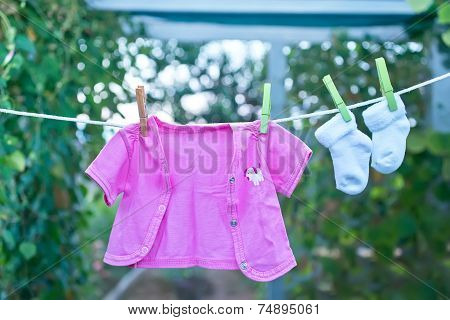 washed baby clothes
