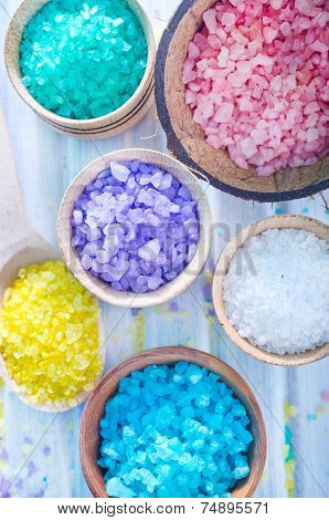 colored sea salt
