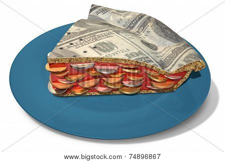 Slice Of Dollar Money Pie