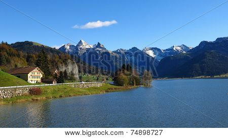 Autumn At Lake Sihlsee