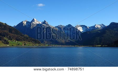 Snow Capped Fluebrig And Druesberg,