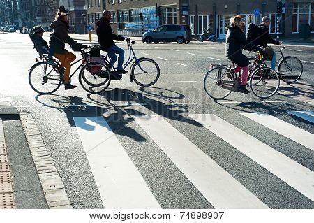 Bicyclists Amsterdam
