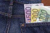 Постер, плакат: Euros eur In A Pocket