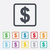 picture of currency  - Dollars sign icon - JPG