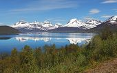 image of tromso  - Norway fjord at a spring near Tromso - JPG