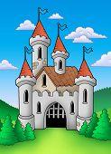 Old Medieval Castle In Landscape poster