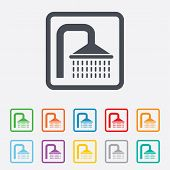 image of douche  - Shower sign icon - JPG