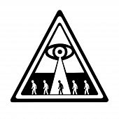 pic of illuminati  - This is an illustration of global control in concpiracy theories - JPG
