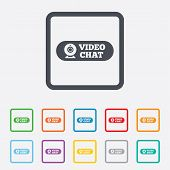 foto of video chat  - Video chat sign icon - JPG