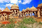 picture of jainism  - The royal cenotaphs in Jaisalmer - JPG
