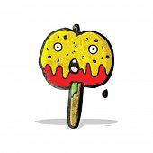foto of toffee  - cartoon toffee apple - JPG