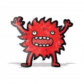 cartoon little furry monster poster